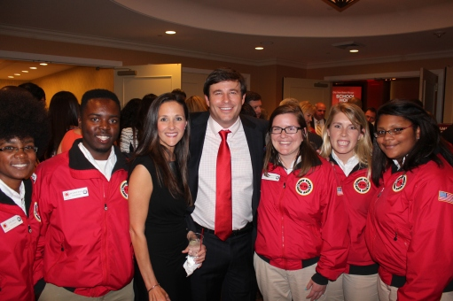 Gwen and Todd Graves with City Year Baton Rouge Corps Members