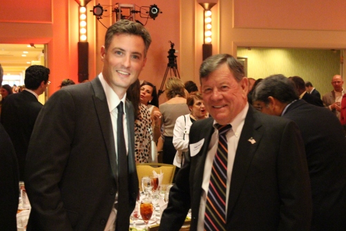 Louisiana State Superintendent John White and Honoree Lane Grigsby, Founder and Chariman, Cajun Industries, LLC